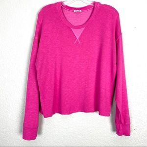 SPLENDID Pink •Dream Slub• Pullover Sweatshirt (S)